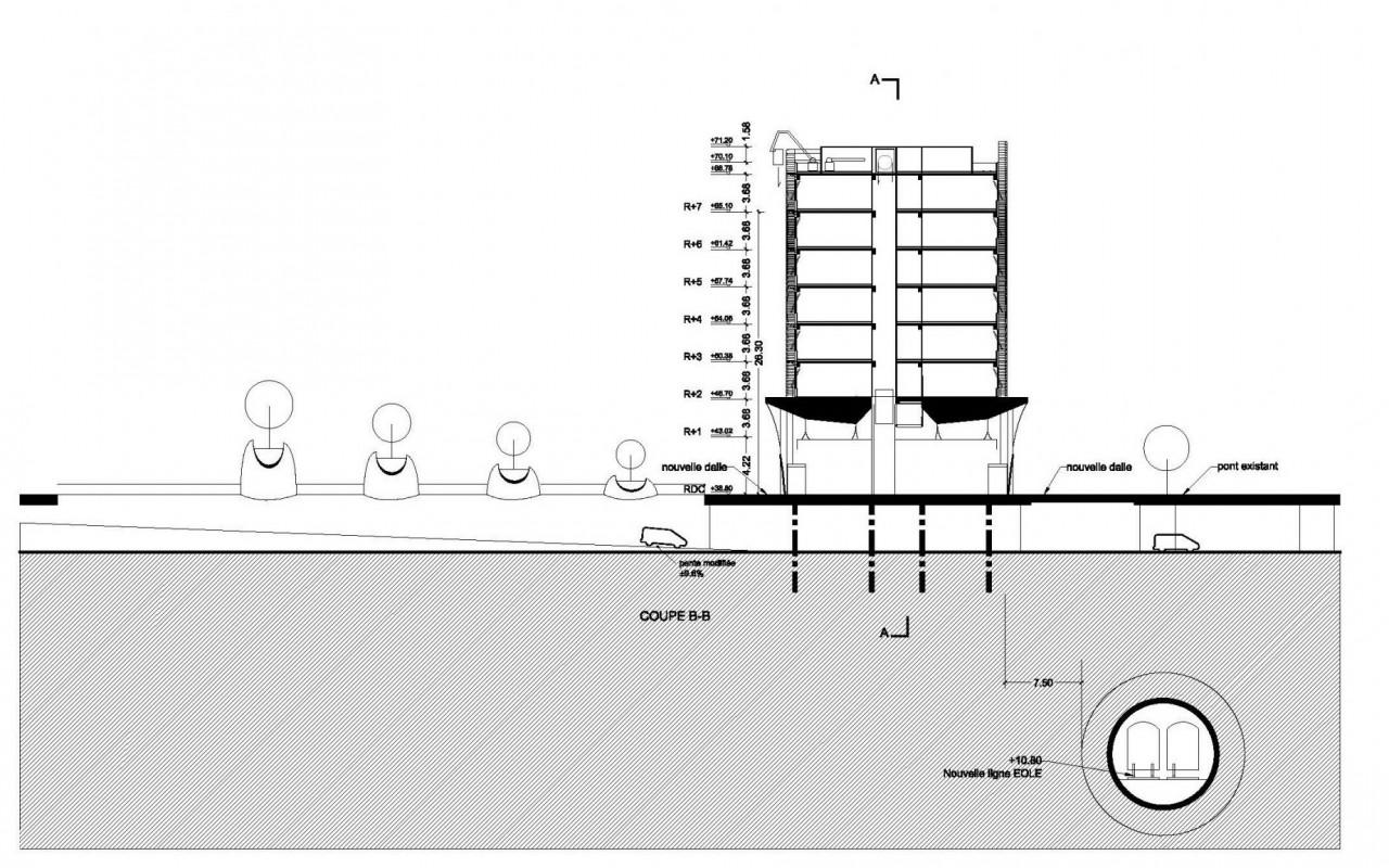 102-Porte Maillot-plan l'implantation - section - 1-2-Model
