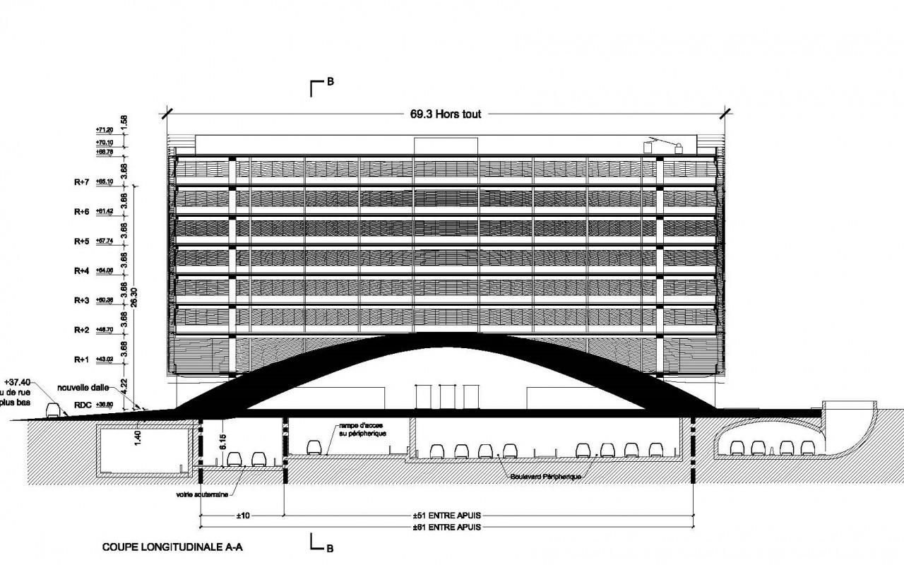 102-Porte Maillot-plan l'implantation - section - 2-2-Model