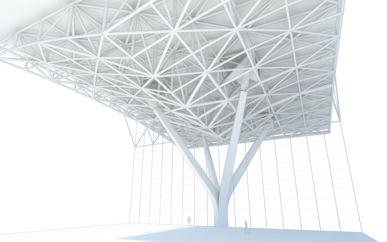 Incheon Airport T2 Structural Model